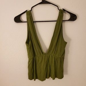 Urban Outfitters Flowy V Neck Crop Top
